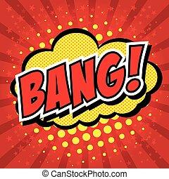 Bang! Comic Speech Bubble, Cartoon