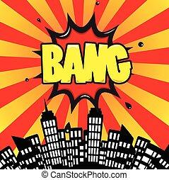 bang - Comic Speech Bubble, Cartoon