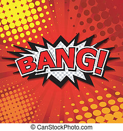 Bang! Comic Speech Bubble. - Comic Speech Bubble, Cartoon....