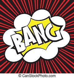 Bang comic, Vector illustration