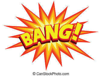 Bang - Stock illustration of a comic explosion