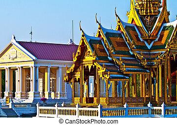 Bang Pa-In temple in Aisawan Thipya-Art Style at the Royal...