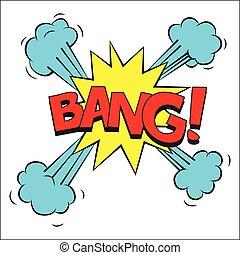 Bang sound effect illustration