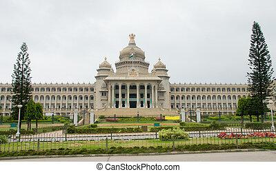 The Vidhan Soudha is the state legislature builing of Karnataka, India