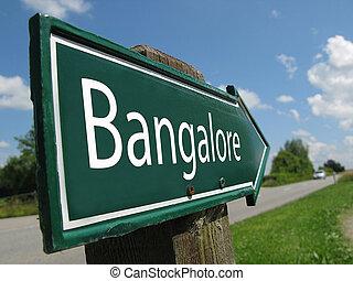 BANGALORE signpost along a rural road