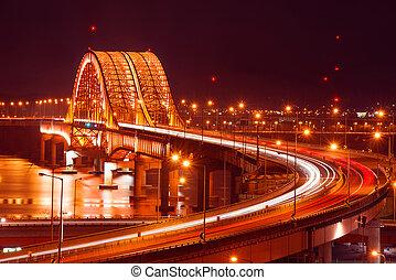 Banghwa bridge at night, Korea