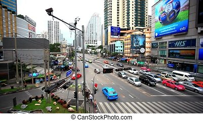 BANGKOK 3 august 2014, Traffic on road  in Bangkok, Thailand