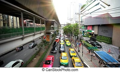 BANGKOK 3 august 2014, Traffic on road  in Bangkok, Thailand