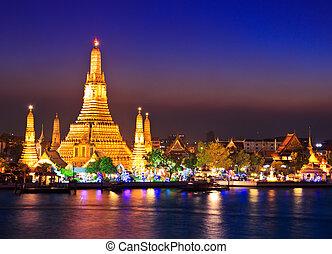 bangkok, arun, wat, templo, tailandia