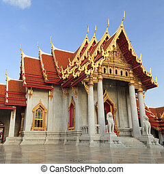 bangkok, benchamabophit, tailandia, wat