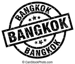Bangkok black round grunge stamp