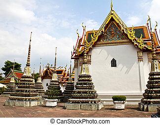 bangkok, buddha de descanso, thailand., pho, wat, templo