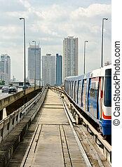 bangkok, céu, trem