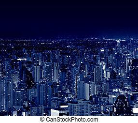bangkok, città, notte, tailandia