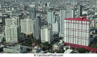 bangkok city aerial view