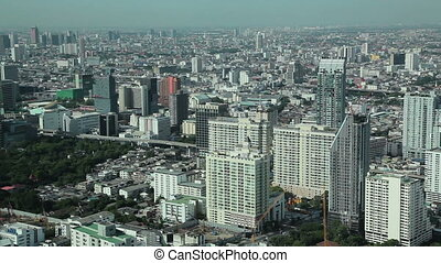 bangkok city aerial view