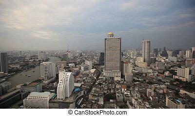Bangkok City Evening High View