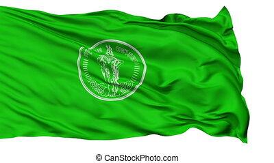 Bangkok City Isolated Waving Flag - Bangkok Capital City...