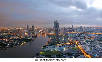 Bangkok City overview at Sunrise