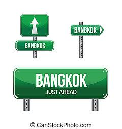 bangkok city road sign