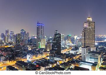 Bangkok city scape in twilight