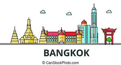 Bangkok city skyline.