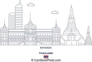Bangkok City Skyline, Thailand
