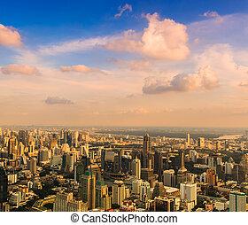 Bangkok cityscape. Bangkok view in the business district Thailan