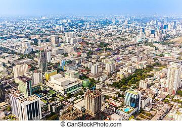 bangkok, contorno, tailandia