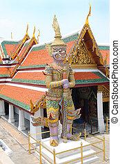 bangkok, daemon, tutore, palazzo, reale, tailandia