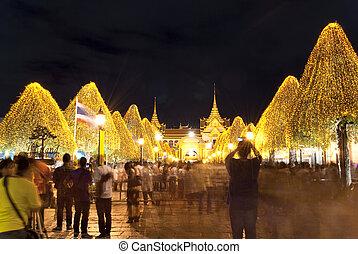 Bangkok-Dec 7:Tourists enjoy the special night at the Grand Pala