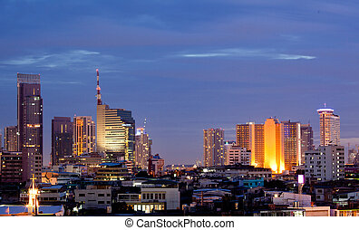 Bangkok Downtown at dusk