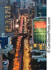 bangkok, en ville, trafic