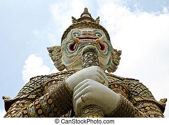 bangkok, gigante, palazzo, kaeo, phra, reale, -, thailand., grande, wat
