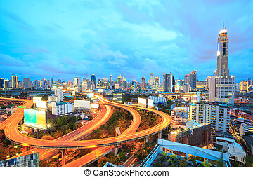 Bangkok Highway at Dusk