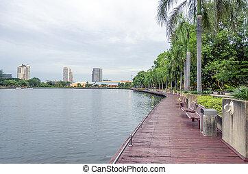 BANGKOK - July 19:view of benjakitti park, benjakitti park is the