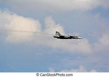 BANGKOK - JULY 2: JAS 39 Gripen on