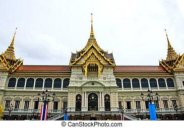bangkok, kaew), palacio, phra, real, (wat, magnífico,...