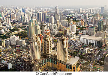 bangkok, metropolis, alatt, thaiföld