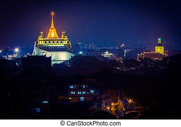 bangkok, nightscape