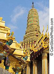 bangkok, palácio, grandioso