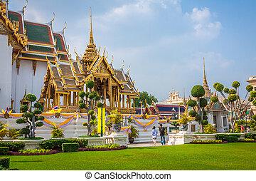 bangkok, palácio, real, ásia, grandioso, tailandia