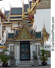 bangkok, palácio, vista, grandioso