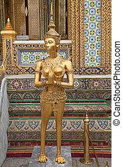bangkok, palacio, magnífico, tailandia
