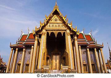 bangkok, palacio, phra, magnífico, tailandia, wat, kaew