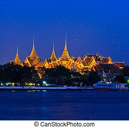 bangkok, palacio, phra, real, tailandia, wat, kaew