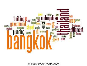 bangkok, palavra, nuvem