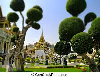 bangkok, palazzo, grande, tailandia