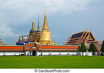 bangkok, palazzo, tailandia, grande