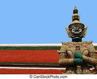 bangkok, palazzo, thailand., grande